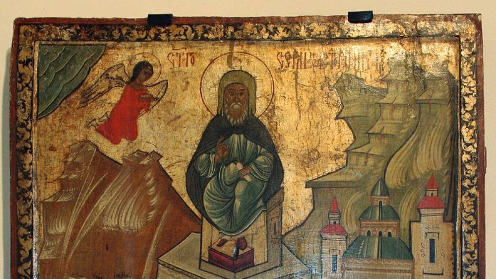 Simeón el estilita (Icono del siglo XVI)