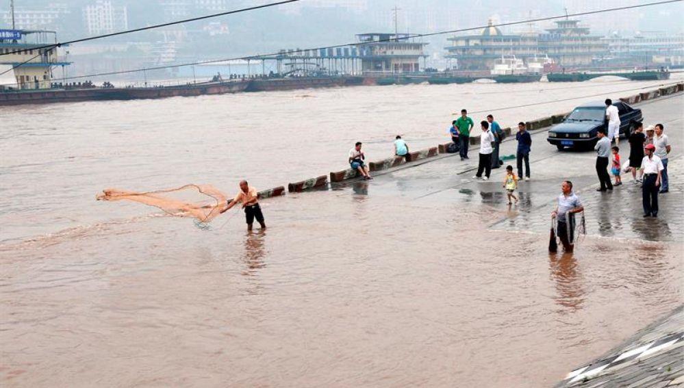 Temporada de inundaciones en China.