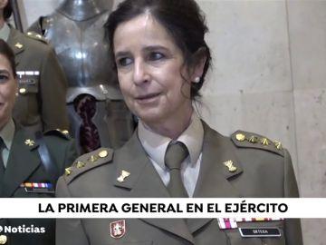 La coronel Patricia Ortega, primera mujer general en las Fuerzas Armadas de la historia de España