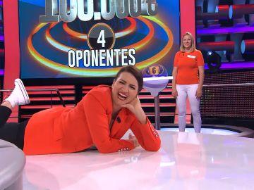 El gracioso intento de Silvia Abril para imitar a Arturo Valls en '¡Ahora caigo!'