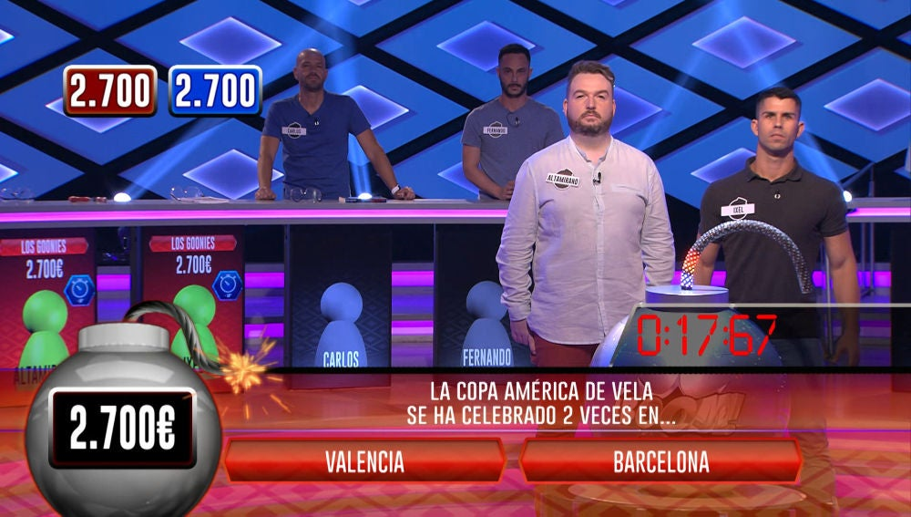 'Los Gonnies' vencen a 'Los Hechizados' en la bomba clasificatoria de '¡Boom!'