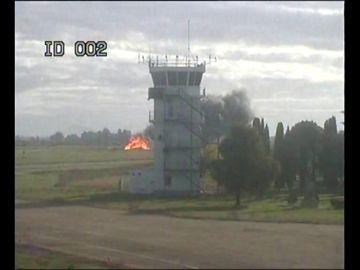 Así se estrelló el F-5 en Talavera la Real: informe del accidente