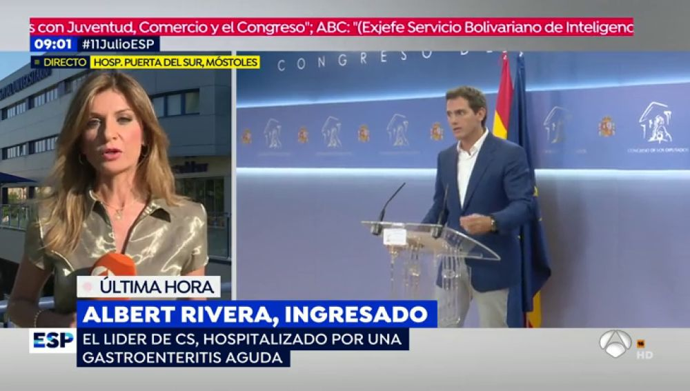 Albert Rivera, ingresado