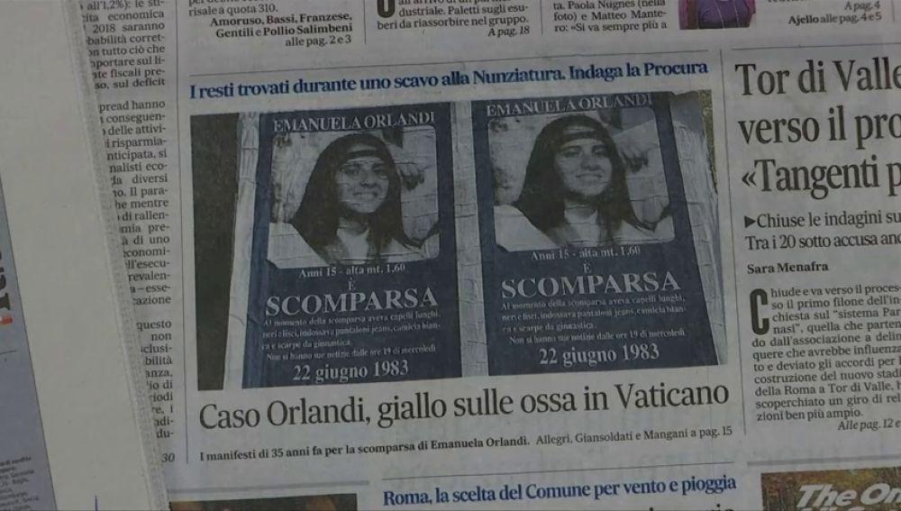 El Vaticano abrirá dos tumbas en el marco de la investigación de la desaparición de Emanuela Orlandi