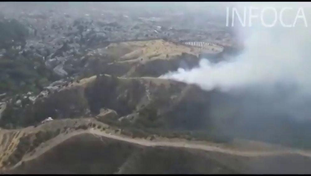 Declarado un incendio en el paraje Sacromonte de Granada