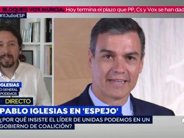 """Pablo Iglesias en 'Espejo Público': """"No es serio que me entere de que Sánchez me va a llamar por los medios"""""""