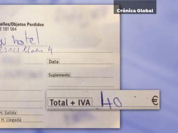La factura que el usuario compartió en redes para denunciar el fraude
