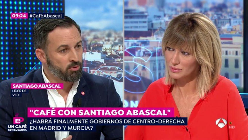 """Santiago Abascal: """"Queremos un Gobierno de PP y Ciudadanos que no aplique políticas de izquierda"""""""