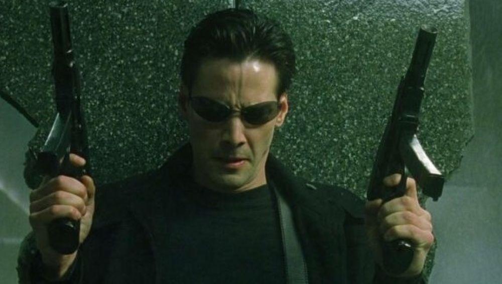 Neo, el protagonista de Matrix.