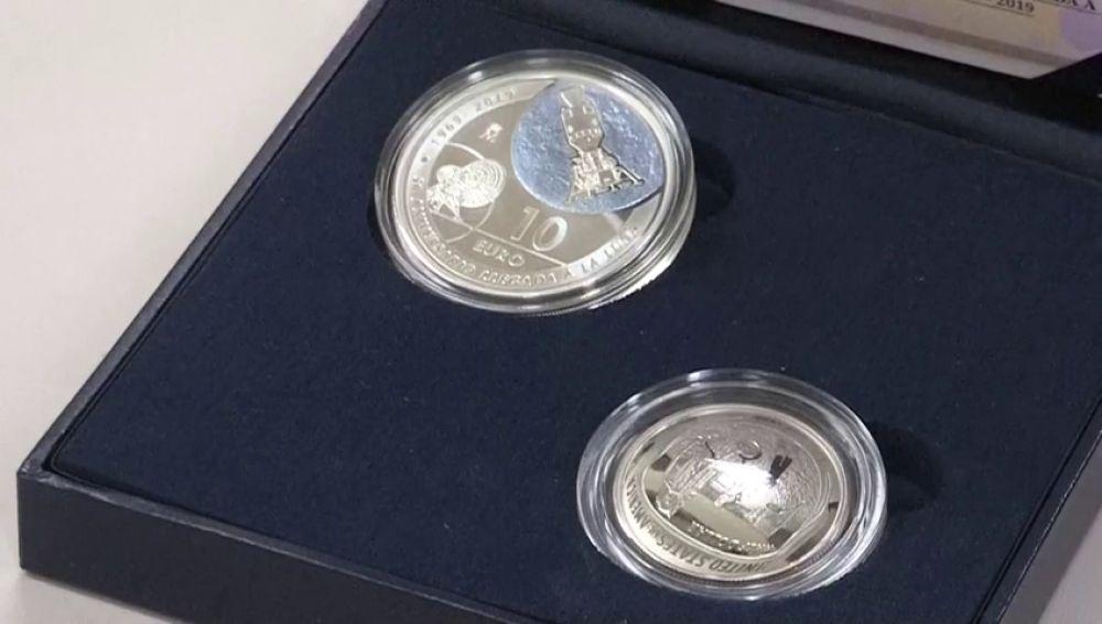 Estas son las monedas conmemorativas por los 50 años de la llegada del hombre a la Luna