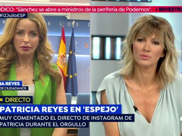 Patricia Reyes en una entrevista para Espejo Público