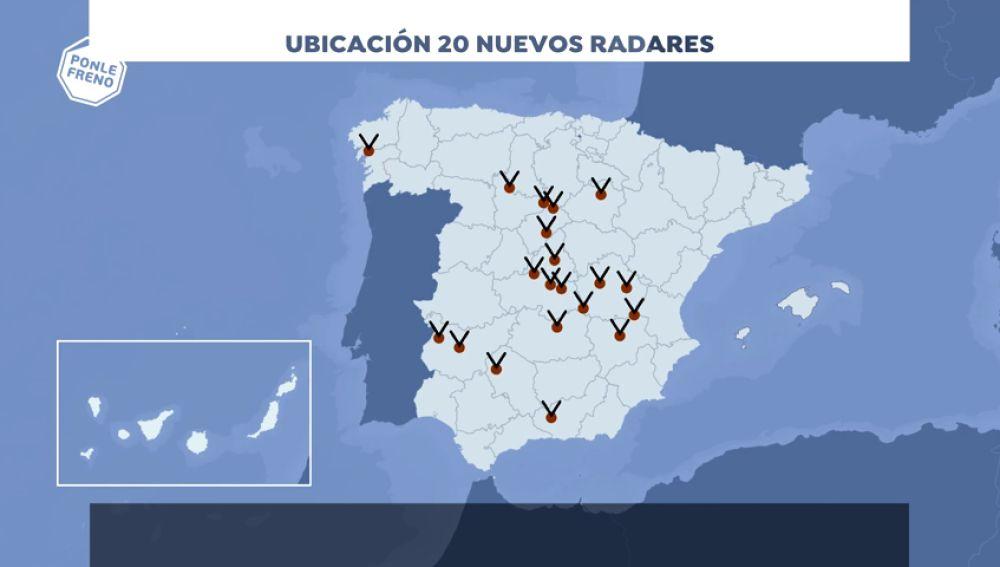 Veinte nuevos radares en carreteras de doble sentido