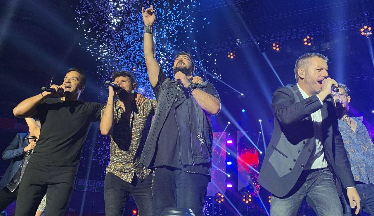 Luis Fonsi, Pablo López, Antonio Orozco, Ángel Cortés y Andrés Martín en el concierto de 'La Voz'