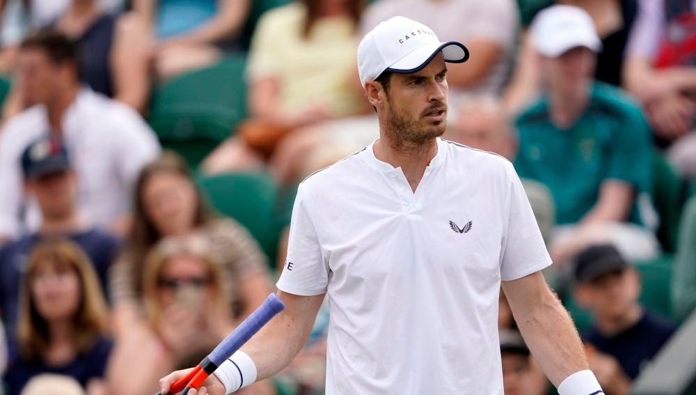 Andy Murray disputó los dobles mixtos en Wimbledon con Serena Williams