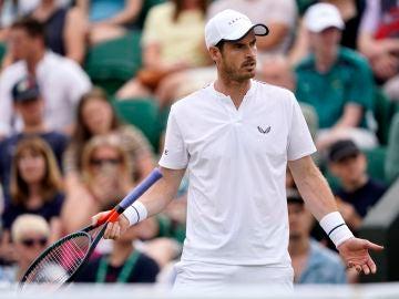 Andy Murray disputó los dobles mixtos en Wimbledon con Serena Williams