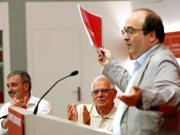 Miquel Iceta en la clausura de la Escuela de Verano del PSC