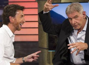 Pablo Motos y Harrison Ford en 'El Hormiguero 3.0'