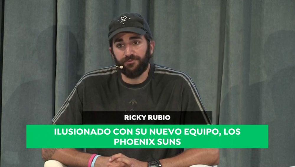 """Ricky Rubio, sobre su futuro en los Suns: """"Necesitaba minutos y un nivel de dificultad alto"""""""