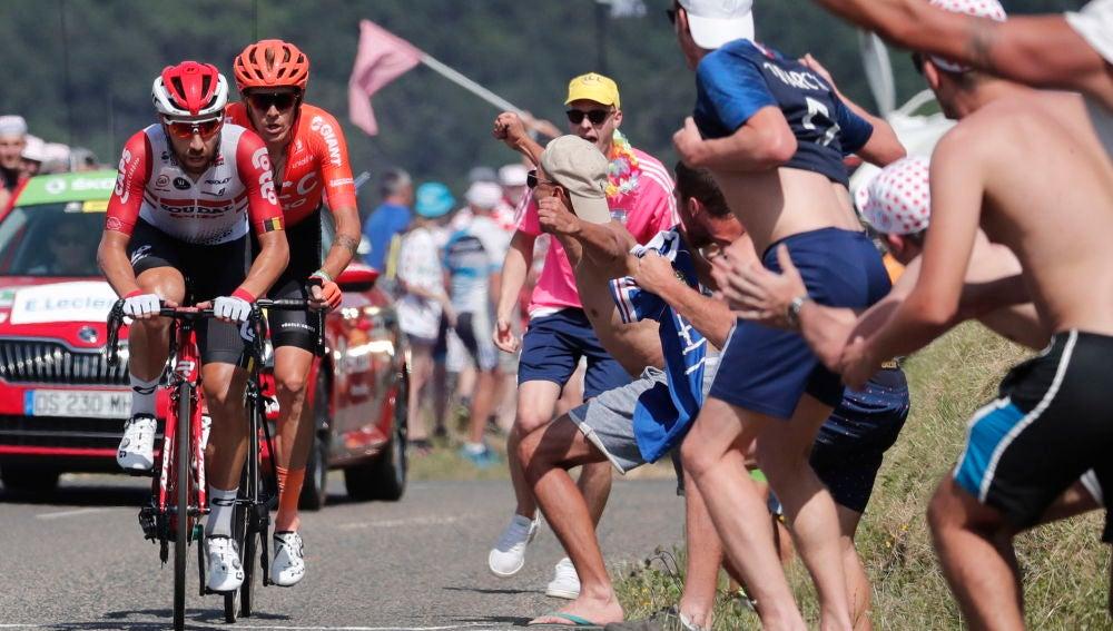 Alessandro De Marchi y Thomas de Gendt durante la etapa 8 del Tour