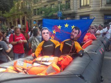 Manifestación en apoyo al Open Arms en Madrid