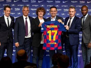 Griezmann es presentado de forma oficial como jugador del FC Barcelona