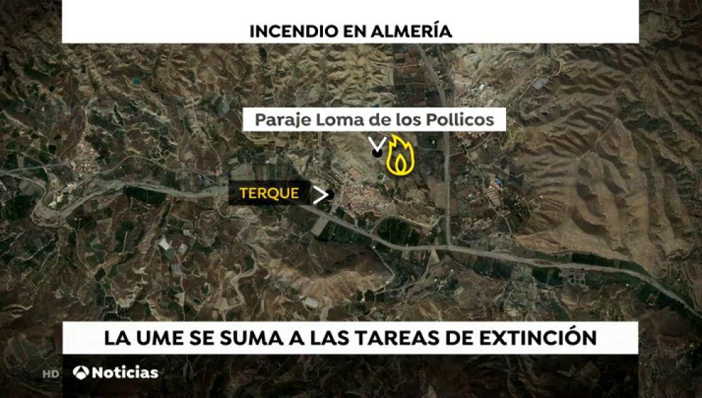 El incendio de Gádor, en Almería, alcanza el nivel 2