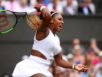 Serena Williams durante el torneo de Wimbledon 2019