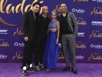 Will Smith junto a dos de sus hijos y su mujer, Jada Pinkett