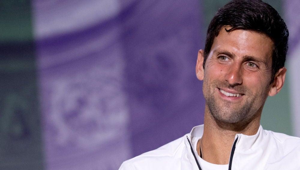 Djokovic en rueda de prensa tras la final de Wimbledon