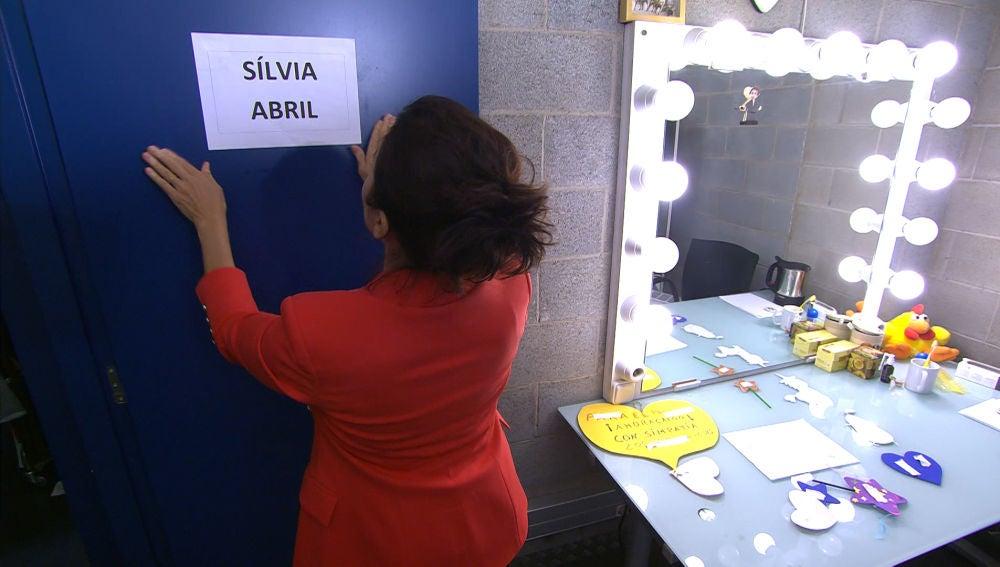 Silvia Abril decora su nuevo camerino, en '¡Ahora caigo!'