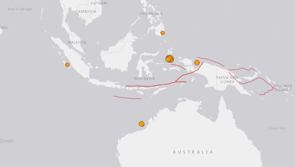 Un terremoto hace temblar parte de Indonesia