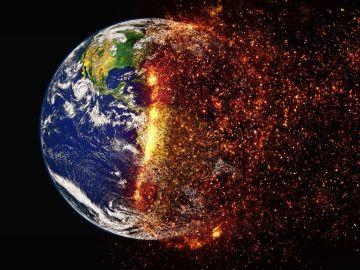 Representación de la Tierra expuesta al calentamiento global