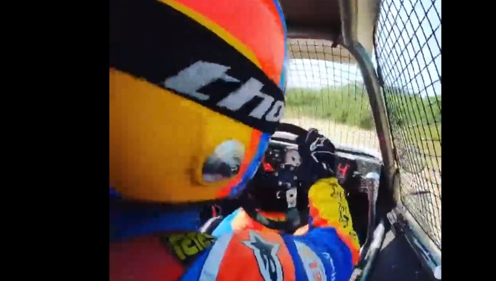 Fernando Alonso entrenando
