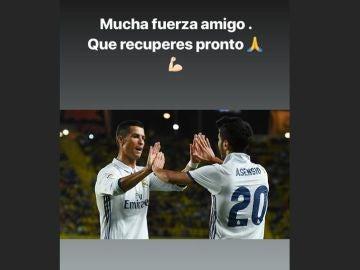 Cristiano lanzó un mensaje de apoyo a Marco Asensio