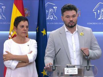 """Rufián: """"Es la muerte política de Sánchez y de Iglesias"""""""