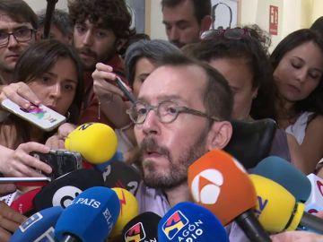 """Echenique responde al PSOE que la contraoferta es """"modesta"""" y le pide que rectifique antes de la investidura"""