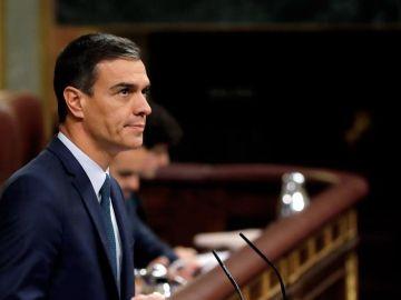 Pedro Sánchez, en la sesión de investidura de julio