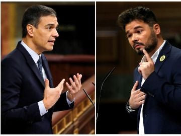 Pedro Sánchez y Gabriel Rufián