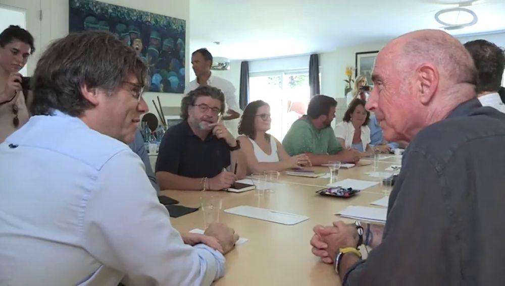Puigdemont y Torra reúnen el Consejo de la República en Waterloo