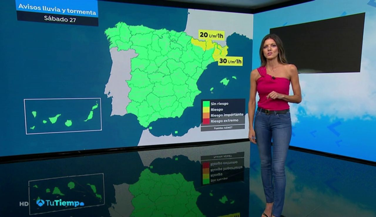 Un frente del Atlántico provocará un descenso generalizado de las temperaturas