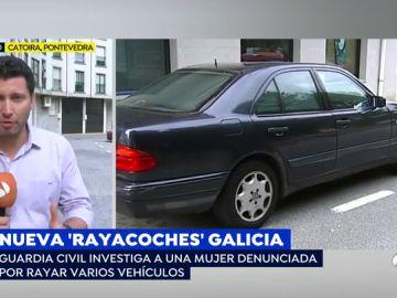 Raya coches en Galicia.