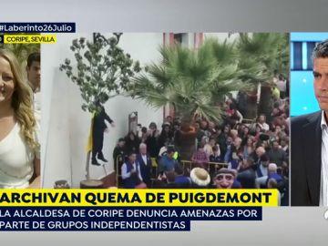 Archivan el caso de la quema de Puigdemont