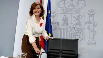"""laSexta Noticias 14:00 (26-07-19) Carmen Calvo: """"Unidas Podemos sola ha rechazado un gobierno de coalición. Está rechazado y rechazado queda"""""""