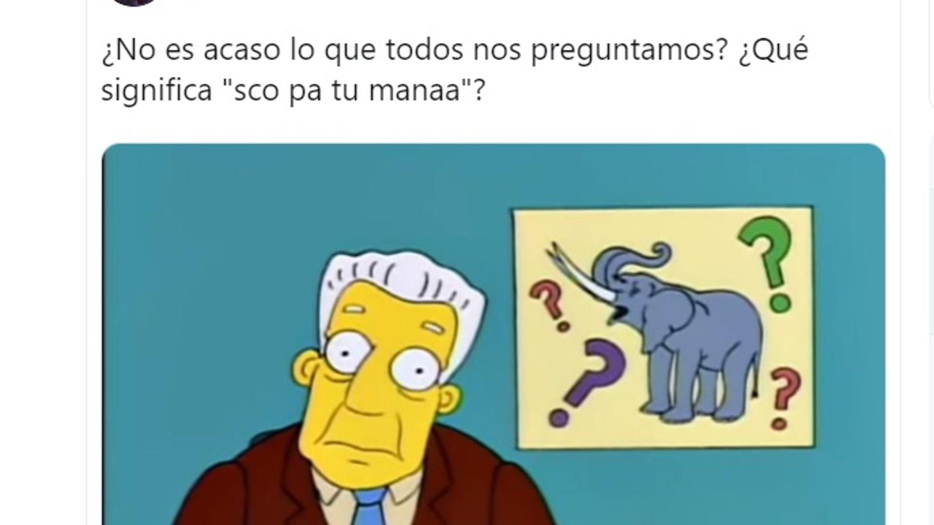 El nuevo reto viral de Twitter: publicar la frase 'Sco pa tu manaa' acompañado de una imagen para pedir la opinión de tus seguidores.