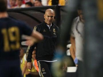 Zidane durante el partido con el Arsenal