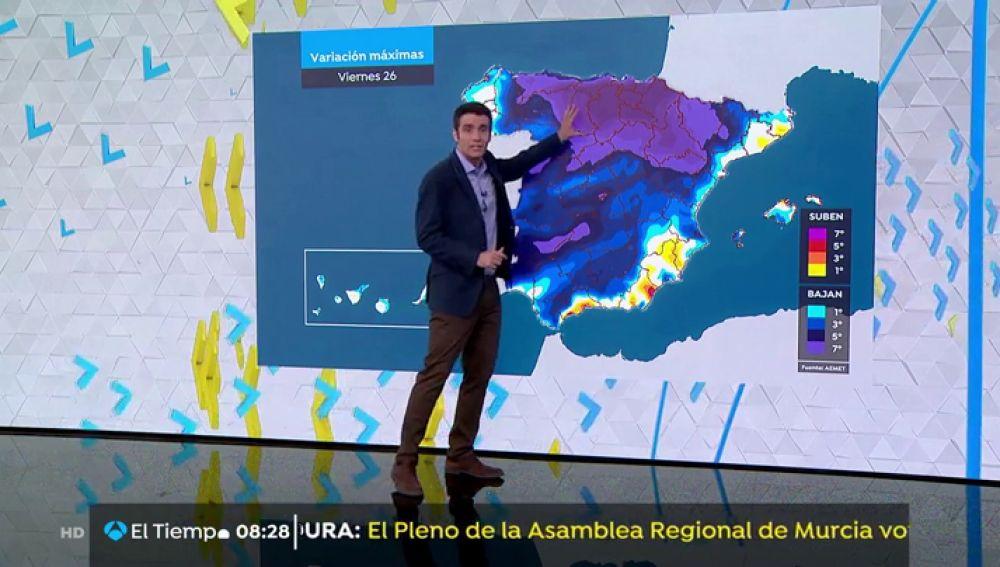 Bajan las temperaturas y vuelven las tormentas en el norte peninsular