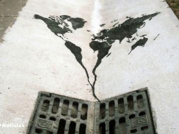 El Banksy español crea una obra de arte en la cárcel