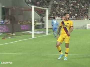 Dos goles de Carles Pérez le dan al Barcelona la primera victoria de la pretemporada ante el Vissel Kobe de Iniesta