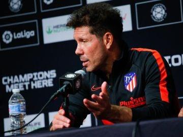 Simeone, en la rueda de prensa posterior a la goleada ante el Real Madrid
