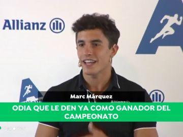 """Marc Márquez, sobre su ventaja en el Mundial: """"El comentario de 'esto está hecho' es el que más odio"""""""